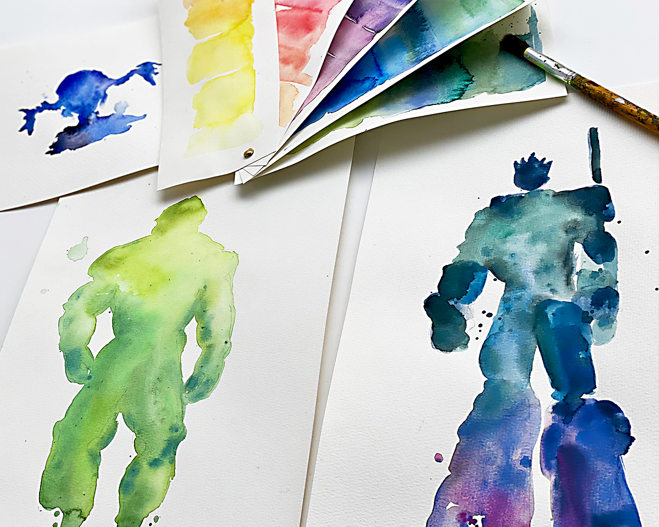 Kinderkunsthaus_Aquarell_Figuren